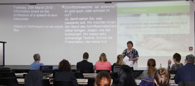 Infoveranstaltung am SDI München 2018: Wir arbeiten Schriftdolmetscher